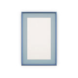 Blue Picture Frames and pictures. On white background Royalty Free Stock Photo