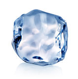 Blue piece of ice Stock Images