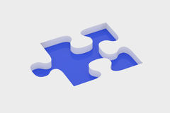 Blue piece of puzzle Royalty Free Stock Images