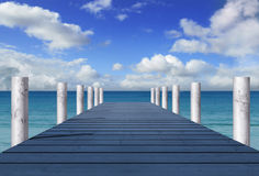 Blue pier Stock Photography