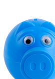Blue Piggy Bank Royalty Free Stock Images