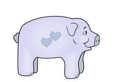 Blue Piggy Bank Stock Photos
