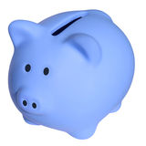 Blue a piggy bank Royalty Free Stock Photography