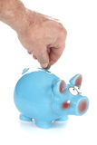 Blue Piggy Bank Savings Royalty Free Stock Photography