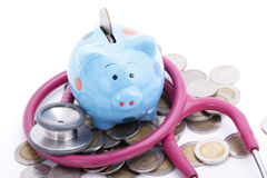 Blue Piggy bank Royalty Free Stock Photography