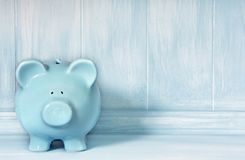Blue Piggybank Royalty Free Stock Image