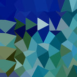 Blue Pigment Abstract Low Polygon Background. Low polygon style illustration of a blue pigment abstract geometric background Stock Images