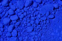 Blue pigment stock photography