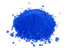 Blue pigments Stock Photography