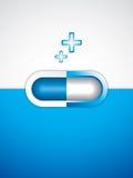 Blue pill. Blue alternative medication concept - Pill vector royalty free illustration
