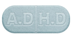 Blue pill isolated on white Stock Photography