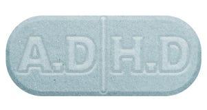 Blue pill isolated on white. Illustration stock illustration