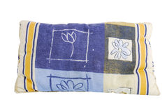 Blue pillow. Children design pillow isolated on white background Stock Photo