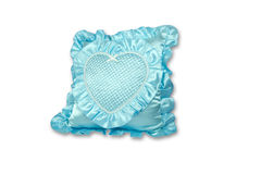 Blue pillow isolated Royalty Free Stock Photography