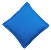 Blue Pillow - isolated Stock Photo
