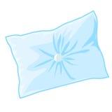 Blue pillow. Isolated illustration on white background Royalty Free Stock Image