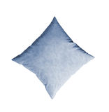 Blue pillow isolated on the white Royalty Free Stock Photos