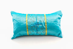 Blue pillow. Royalty Free Stock Photo