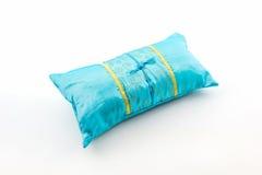 Blue pillow. Stock Image