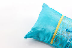 Blue pillow. Royalty Free Stock Image