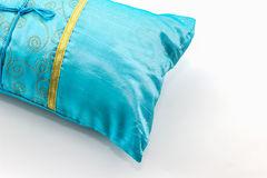 Blue pillow. Royalty Free Stock Photography