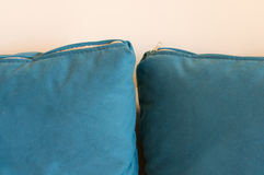 Blue pillows Stock Photography