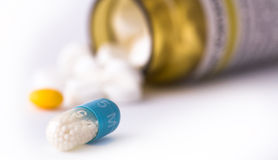 Blue pills Royalty Free Stock Photography