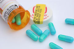 Blue Pills Stock Images