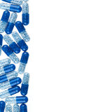Blue pills background isolated Royalty Free Stock Images