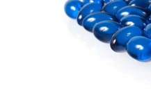 Blue pills isolated on white Royalty Free Stock Image