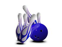 Blue pin strikes Royalty Free Stock Image