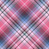 Blue pink abctract check plaid seamless pattern. Vector illustration Royalty Free Stock Images