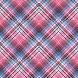 Blue pink abctract check plaid seamless pattern. Vector illustration Stock Photo