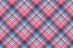 Blue pink abctract check plaid seamless pattern. Vector illustration Stock Image