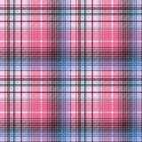 Blue pink abctract check plaid seamless pattern. Vector illustration Stock Images