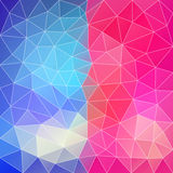 Blue-Pink abstract polygonal background. Can be used for wallpap Royalty Free Stock Photography