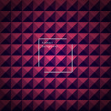 Blue and Pink abstract pyramid background. For your designs. Vector illustration Stock Photography