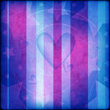 Blue and pink background with hearts and stars. Blue and pink background with hearts, curl and stars Stock Photography