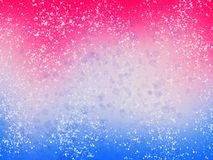 Blue and pink background with white splashes and glitter. Winter abstract wallpaper, illustration. Unicorn party theme. Hand Drawn. Wallpaper stock illustration
