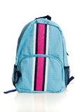 Blue and pink Backpack on a white background Stock Photo
