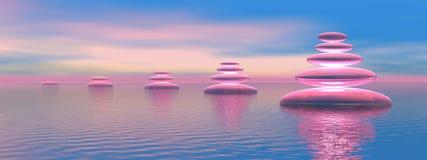 Blue and pink balance Royalty Free Stock Photos