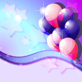 Blue and pink balloons Stock Photos