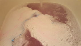 Blue and pink bathbomb Stock Images