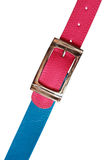 Blue And Pink Belts Royalty Free Stock Photo