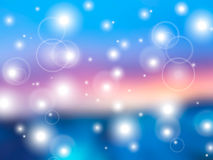 Blue pink blur background with lights. Blue pink abstract smooth blur gradient mesh background with defocused lights Stock Images