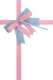 Blue pink bow Stock Images