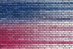 Blue pink brick wall background Royalty Free Stock Image