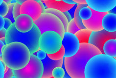 Blue Pink Bubbles Royalty Free Stock Photo