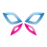Blue and Pink Butterfly Icon Stock Photos