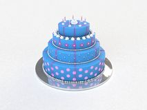 Blue Pink Cake Stock Photos